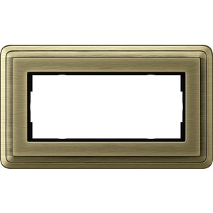 2-fach Abdeckrahmen ohne Mittelsteg für ClassiX Bronze