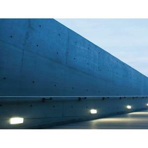 BRIQUE RETTANGOLARE Wandeinbauleuchte IP65 grau 45° Raster 1xTC-D 18W