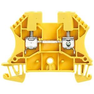 Durchgangs-Reihenklemme mit Schraubanschluss WDU 4 GE 4 mm²