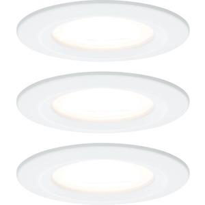 Einbauleuchten-Set Nova rund starr IP44 3x6,5W GU10-LED Weiß matt 3-stepdim