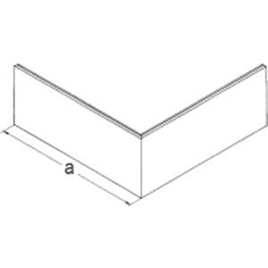 Brüstungskanal Stahlblech SIGNO BS Oberteil 80 für Außeneck reinweiß