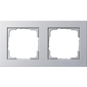 2-fach Abdeckrahmen für E2 Farbe Aluminium