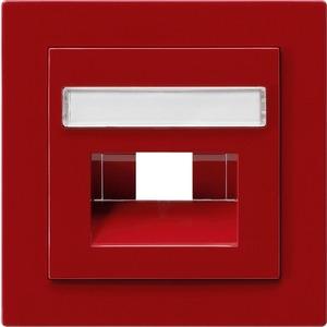 Abdeckung beschriftbar für UAE/IAE/ISDN für S-Color rot