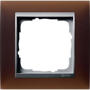 1-fach Abdeckrahmen für Aluminium Event Opak Dunkelbraun