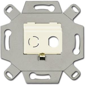 Unterputz Einsatz Kommunikations-Adapter BNC-F cremeweiß