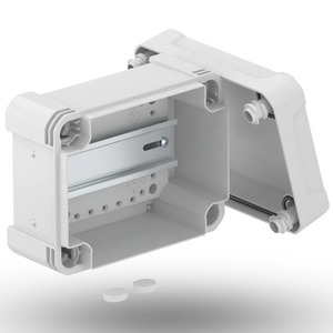 Leergehäuse X 06 mit Hutprofilschiene 1551x167x87mm grau / transparent