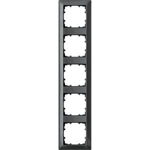 5-fach Rahmen DELTA line carbon-metallic 364x80mm