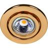 Einbaustrahler mit Sprengring schwenkbar C 3840 gold 24 Karat vergoldet