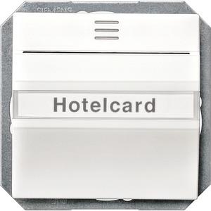 HotelCard-Schalter I-System beleuchtet titanweiß