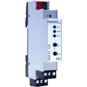 KNX IO520 Jalousieaktor 1-fach Binäreingang 2-fach 12-230 V REG
