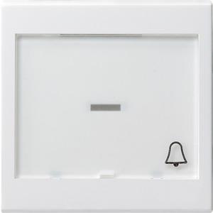 Wippe beschriftbar groß Symbol Klingel System 55 reinweiß
