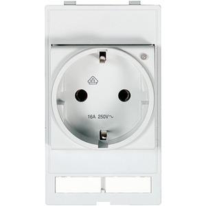 Modlink Frontplatteneinbau Steckdosenmodul VDE 250V AC 16 A LED