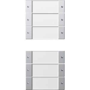Wippenset 6-fach beschriftbar für E22 Klar Aluminium