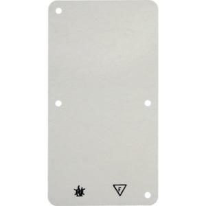 Selbstverlöschende Bodenplatte 2fach Aufputz Zubehör weiß