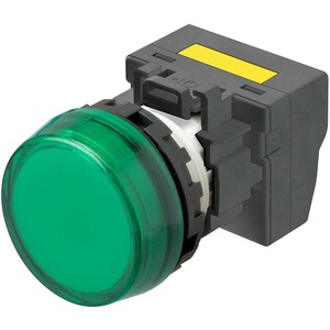 Leuchtmelder M22N Kunststoff Flach Grün 220/230/240V AC Push-In Plus