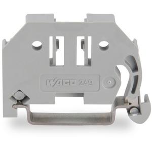Schraubenlose Endklammer 10 mm breit grau