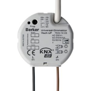 Berker Universal-Dimmaktor 1-fach 210 W/VA Up in stabus KNX/EIB lichtgrau