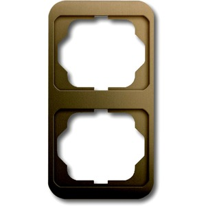 Abdeckrahmen alpha 2-fach senkrecht Bronze matt