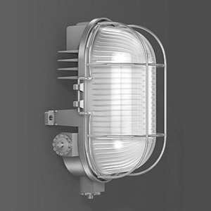 LED Ovalleuchte Aluguss 1x4W 3000K 95lm IP54 silber metallic