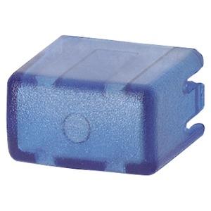 Kappen-Set für Taster 5TE48 5 Artikelnummer=5 Stück blau/transparent