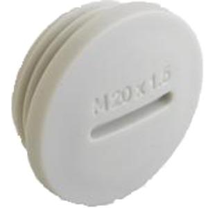 Verschlussschraube für Kabelverschraubung M12 x 1,5 Polyamid hellgrau