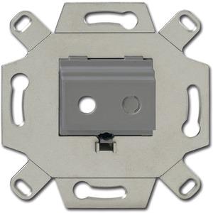 Unterputz Einsatz Kommunikatios-Adapter Klinke grau