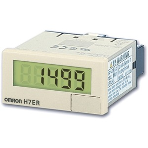 LCD-Drehzahlmesser 48x24mm grau Display: 24VDC 1/60 Impulse/U