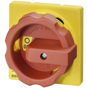 Drehantrieb rot/gelb für Schalter 3LD2 63 bis 125A für