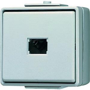 Taster 10 AX 250 V ~ Schließer 1-polig ohne Symbol grau