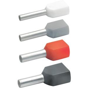Aderendhülse für 2 Leitungen isoliert 2x2,5 mm² 13 mm lang Cu