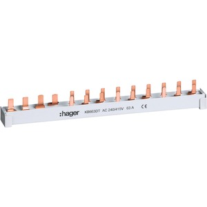 Phasenschiene (Stift) 10 mm² 4-polig 1FI+9LS+N