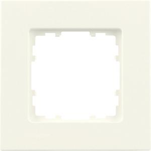 1-fach Rahmen DELTA miro titanweiß 90x90mm