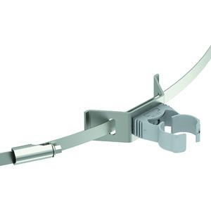 Leitungshalter mit Spannband für isCon-Leitung lichtgrau ø 26mm PA