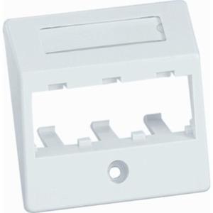 Schrägzentralplatte 3-Port für Unterputz 55 x 55 cm reinweiß