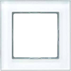 1-fach Glasrahmen 84x84mm alpinweiß
