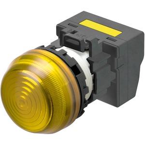 Leuchtmelder M22N Kunststoff sphärisch Gelb 220/230/240V AC Push-In