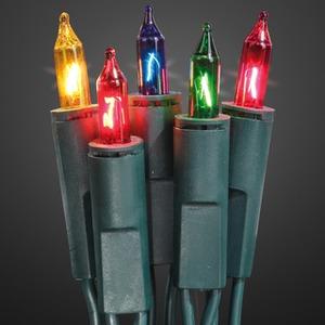 50-teilige Mini - Lichterkette für innen Schaft grün Lampe bunt