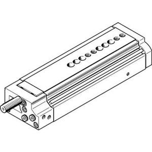 Mini-Schlitten Kugel-Käfig-Führung Baugr. 12 mm / Hub 80 mm P-Dämpf.