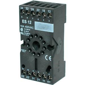 Sockelfassung ES 12 Steckstockel für Industrierelais Serie RT