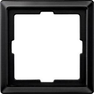 Abdeckrahmen 1-fach schwarzgrau glänzend ARTEC