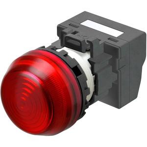 Leuchtmelder M22N Kunststoff sphärisch Rot 24V Push-In Plus