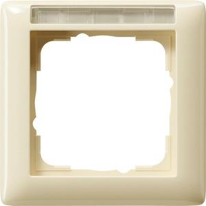 1-fach Abdeckrahmen beschriftbar für Standard 55 cremeweiß