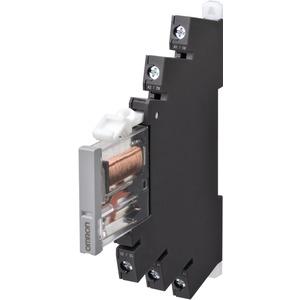 Industrierelais Kleinsignal 6mm + Sockel 1 Wechsler 50mA Schraubansch.