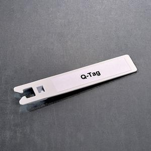 Kennzeichnungsschild Q-TIES für Kabel 100 x 18 mm weiß
