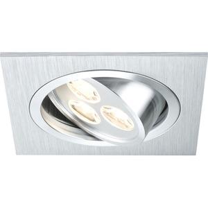 Premium EBL Aria eckig schwb. LED 1x3W 350mA 92x92mm Alu geb./Chr.matt