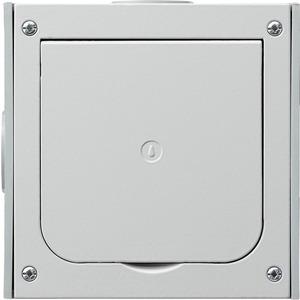 Fußbodenleergehäuse Unterputz mit Klappdeckel 1-fach Aluminium Druckguss