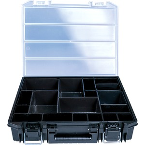 Sortimentskasten mit Metallverschlüssen inkl. Kleinteilboxen