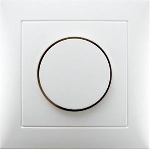Abdeckplatte mit Regulierknopf für Drehdimmer S.1 polarweiß glänzend