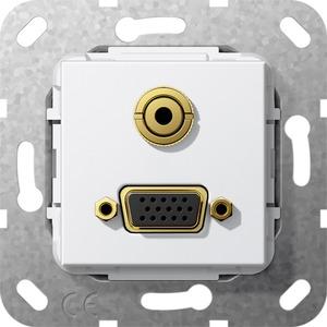 VGA Miniklinke Kabelpeitsche Einsatz reinweiß