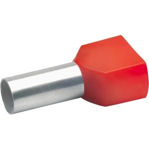Aderendhülse für 2 Leitungen isoliert 2x10 mm² 14 mm lang Cu